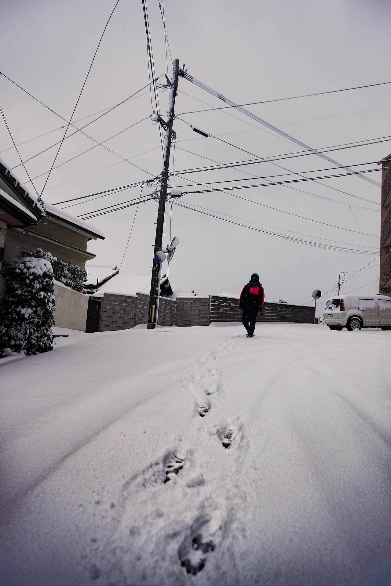 Heavy snow day.
