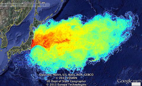 福島原発事故による放射性物質拡散