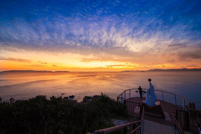 最後は夕日を追っかけて日本本土最西端の地、神埼鼻へ。