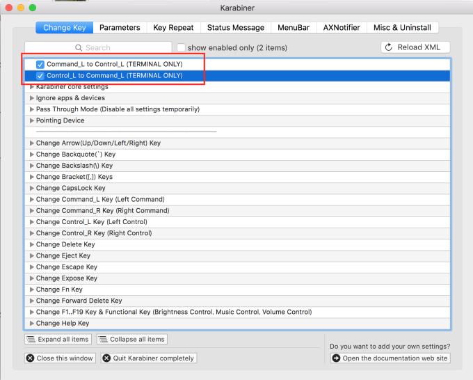 右上のReload XMLを押したら赤枠のチェック項目があらわれるのでチェックすればOKです。