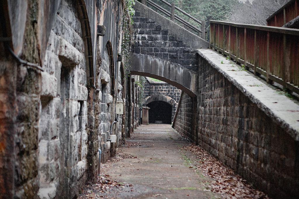 それがずらりと並んでいます。これらの石室は当時どのように使われていたのか。弾薬庫、食料庫とかでしょうか。