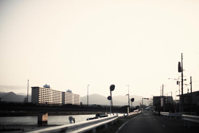 夕暮れ時の福岡