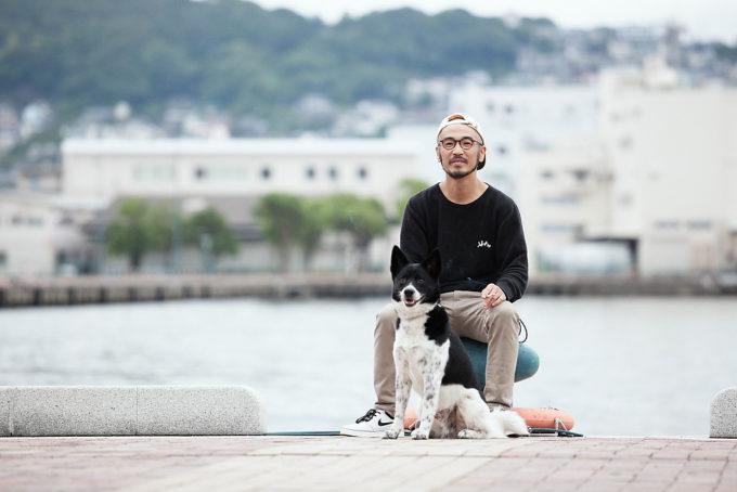 のぐちさんと、愛犬のペグ