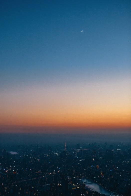 東京タワーらしい赤い尖塔
